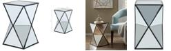 Furniture Margot Angluar Mirror Accent Drum Table