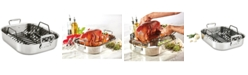 """All-Clad 13"""" x 16"""" Stainless Steel Roaster & Rack"""