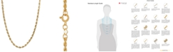 """Macy's 14k Gold Necklace, 18"""" Rope Chain (1-3/4mm)"""