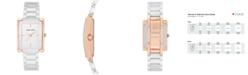 Anne Klein Women's White Ceramic Bracelet Watch 28x35mm