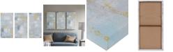 JLA Home Madison Park Abstract Blocks 3-Pc. Hand-Embellished Gel-Coated Canvas Print Set