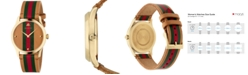 Gucci Men's Swiss G-Timeless Brown Leather Strap Watch 38mm