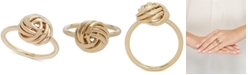 Italian Gold Love Knot Ring in 14k Gold