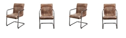 Moe's Home Collection Ansel Arm Chair Light Brown-Set Of Two