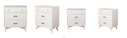 Alpine Furniture 3-Drawer Dresser, White Finish