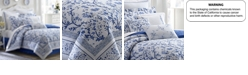 Laura Ashley Full Charlotte China Blue Comforter Set
