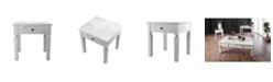 Furniture of America Vera Antique White End Table