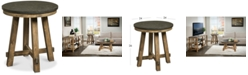 Furniture Breslin Bluestone Round End Table