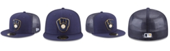 New Era Milwaukee Brewers On-Field Mesh Back 59FIFTY Fitted Cap