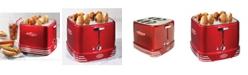 Nostalgia RHDT800RETRORED 4 Hot Dogs & Buns Pop-Up Toaster