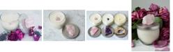 Lifestone Gratitude Natural Soy Candle with Rose Quartz Crystal: Geranium & Lavender Essential Oils