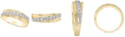 Macy's Men's Diamond Diagonal Band (1/2 ct. t.w.) in 10k Gold