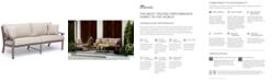 Furniture Tara Aluminum Outdoor Sofa, with Sunbrella® Cushions,Created for Macy's