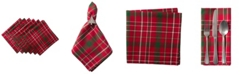 Design Imports Tartan Holly Plaid Napkin, Set of 6