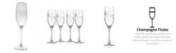 Rolf Glass Olive Flute 8Oz - Set Of 4 Glasses