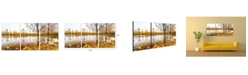 "Chic Home Decor Falling Leaves 3 Piece Wrapped Canvas Wall Art Autumn -20"" x 40"""