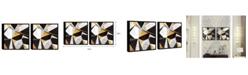 "Chic Home Decor Geo France 2 Piece Framed Canvas Wall Art Geometric -15"" x 31"""
