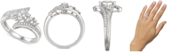 Macy's Cubic Zirconia Statement Ring in Sterling Silver