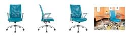 Office Star Bridgeway Office Mesh Chair with Chrome Base
