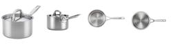 Anolon Tri-Ply Clad Stainless Steel 2-Qt. Saucepan & Lid