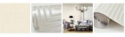 "Brewster Home Fashions Luminous Geometric Wallpaper - 396"" x 20.5"" x 0.025"""