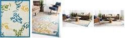 Bridgeport Home Pashio Pas3 Blue 8' x 10' Area Rug