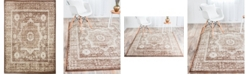 "Bridgeport Home Linport Lin7 Chocolate Brown 8' x 11' 6"" Area Rug"