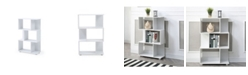 Ac Pacific Modern Staggered 3-Shelf Manor Bookcase