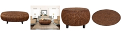 Gallerie Decor Bali Breeze Oval Coffee Table