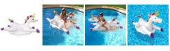 Blue Wave Sports Cloud Rider Rainbow Unicorn Inflatable Ride-On Swimming Pool Float