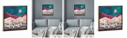 """iCanvas Magenta Mountain by Spacefrog Designs Gallery-Wrapped Canvas Print - 26"""" x 26"""" x 0.75"""""""