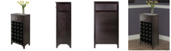 Winsome Ancona Modular Wine Cabinet with One Drawer and 24-Bottle
