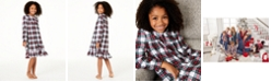 Family Pajamas Matching Kids Stewart Plaid Nightgown, Created for Macy's