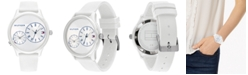 Tommy Hilfiger Women's White Rubber Strap Watch 38mm
