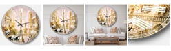 Designart Cityscape Digital Oversized Round Metal Wall Clock