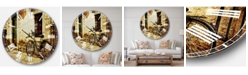 Designart Landscape Photo Oversized Round Metal Wall Clock