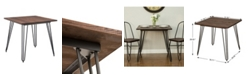 Glitzhome Industrial Steel Dining Table with Elm Wood Top