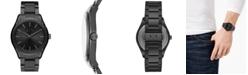 A|X Armani Exchange Men's Fitz Black Stainless Steel Bracelet Watch 44mm