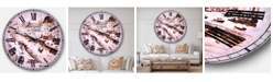 Designart Cityscape Oversized Round Metal Wall Clock