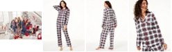 Family Pajamas Matching Women's Stewart Plaid Family Pajama Set, Created for Macy's