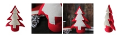 """Northlight 15"""" Red and Neutral Weighted Base Christmas Tree Tabletop Decoration"""