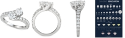 Macy's Diamond Two-Stone Bypass Engagement Ring (2 ct. t.w.) in 14k White Gold
