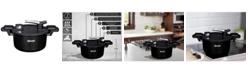 "Amercook Pressed Aluminum 5.0 Litre Capacity Low Pressure Cooker 10"""