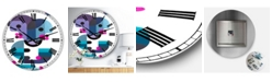 """Designart Out of Focus Oversized Mid-Century Wall Clock - 36"""" x 28"""" x 1"""""""
