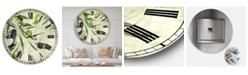 "Designart Olives De Nice Oversized Cottage Wall Clock - 36"" x 28"" x 1"""
