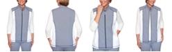 Alfred Dunner Road Trip Striped Panel Vest