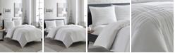 City Scene Variegated Pleats Twin Comforter Set