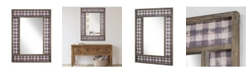 Crystal Art Gallery American Art Decor Decorative Wall Vanity Mirror with Plaid Pattern
