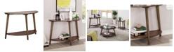 Furniture of America Riston Open Shelf Sofa Table