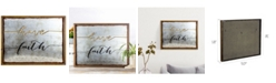 Crystal Art Gallery American Art Decor Rustic Have Faith Inspirational Quote